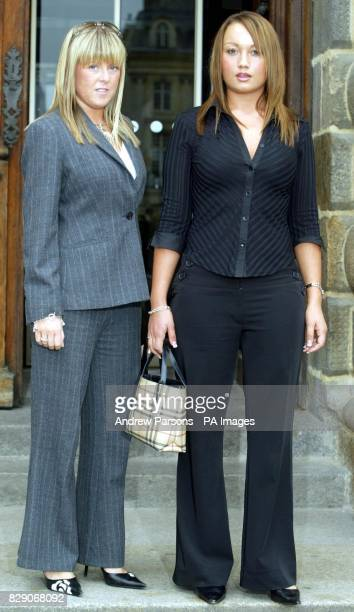 Kate Wrigley and Jenna Ellis outside in a court in Rennes north west France on the second day of the trial of Spanish waiter Francisco Arce Montes...