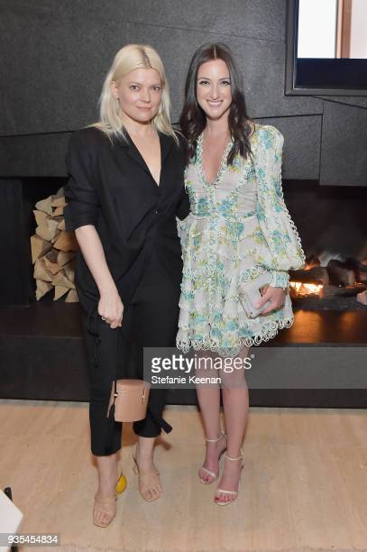 Kate Young and Micaela Erlanger attend The Hollywood Reporter and Jimmy Choo Power Stylists Dinner on March 20 2018 in Los Angeles California