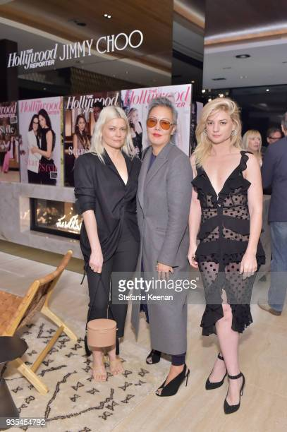 Kate Young Jeanne Yang and Ilaria Urbinati attend The Hollywood Reporter and Jimmy Choo Power Stylists Dinner on March 20 2018 in Los Angeles...