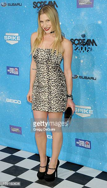 Katee Sackhoff arrives at Spike TV's 'SCREAM 2009' 4th annual event held at the Greek Theatre on October 17 2009 in Los Angeles California