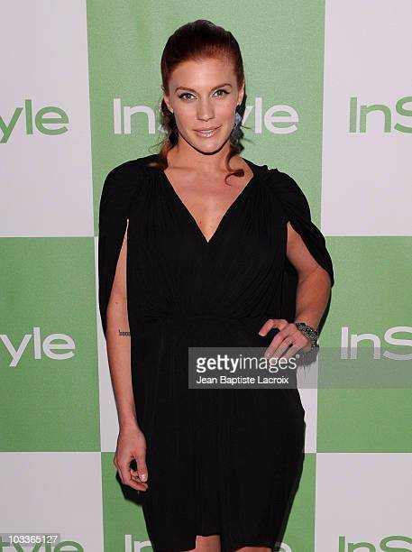 Katee Sackhoff arrives at the 9th Annual InStyle Summer Soiree on August 12, 2010 in Los Angeles, California.