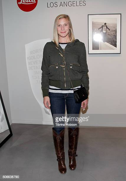 Katee Sackhoff attends Billy Zane's opening night reception for his debut photo exhibit at Leica Gallery Los Angeles on January 23 2016 in Los...