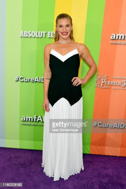 Katee Sackhoff attends the 2019 amfAR Gala Los Angeles at Milk Studios on October 10 2019 in Los Angeles California