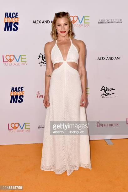 Katee Sackhoff attends the 26th Annual Race to Erase MS Gala at The Beverly Hilton Hotel on May 10, 2019 in Beverly Hills, California.
