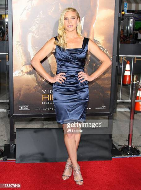 Katee Sackhoff attends the 'Riddick' premiere on August 28, 2013 in Westwood, California.