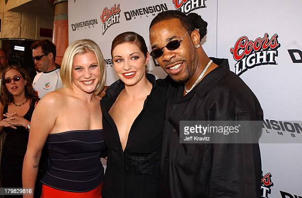 Katee Sackhoff Bianca Kajlich Busta Rhymes during Premiere of Dimensions Films Halloween Resurrection in Los Angeles California United States
