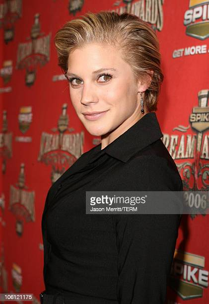 """Katee Sackhoff during Spike TV's """"Scream Awards 2006"""" - Red Carpet at Pantages Theater in Hollywood, California, United States."""