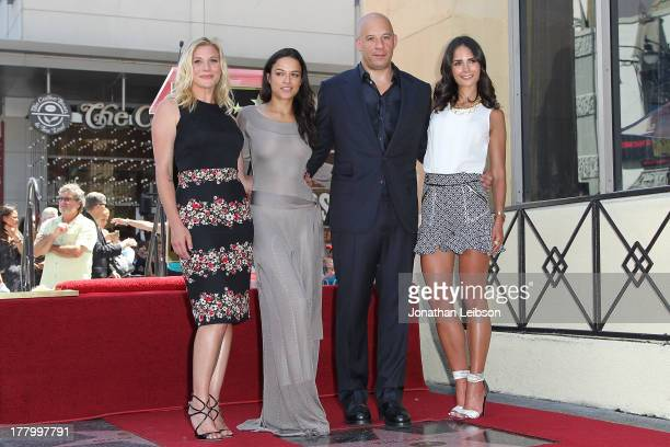 Katee Sackhoff Michelle Rodriguez Vin Diesel and Jordana Brewster attend the ceremony honoring Vin Diesel with a star on The Hollywood Walk of Fame...