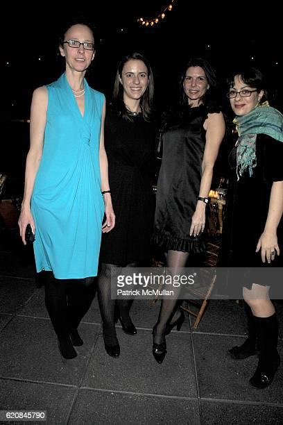 Katelijne De Backer Ali Goldstein Caryn Nadler and Manuela Paz attend The ARMORY SHOW 2008 Dinner Hosted by QUINTESSENTIALLY at The Gramercy Park...