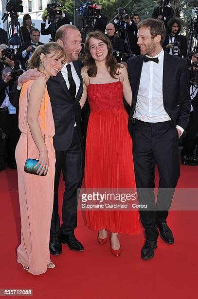 Katell Quillevere Francois Damiens Adele Haenel and Paul Hamy attend 'Le Passe'' premiere during the 66th Cannes International Film Festival