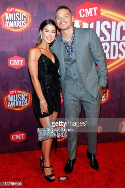 Katelyn Brown and Kane Brown attend the 2021 CMT Music Awards at Bridgestone Arena on June 09, 2021 in Nashville, Tennessee.