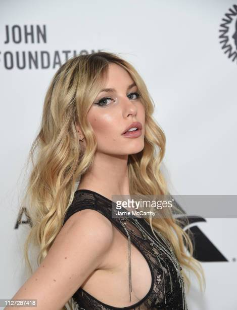 Katelyn Byrd attends the 27th annual Elton John AIDS Foundation Academy Awards Viewing Party sponsored by IMDb and Neuro Drinks celebrating EJAF and...