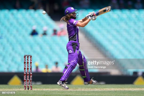 Katelyn Fryett of the Hurricanes bats during the Women's Big Bash League match between the Sydney Sixers and the Hobart Hurricanes at Sydney Cricket...