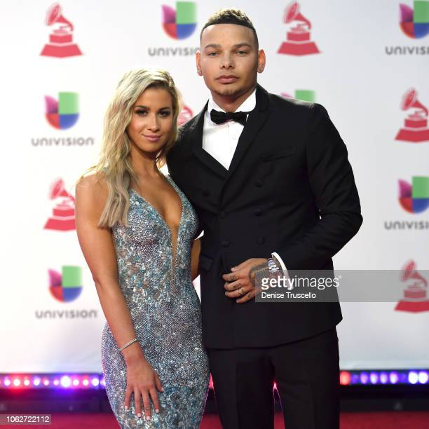 Katelyn Jae and Kane Brown attend the 19th annual Latin GRAMMY Awards at MGM Grand Garden Arena on November 15 2018 in Las Vegas Nevada