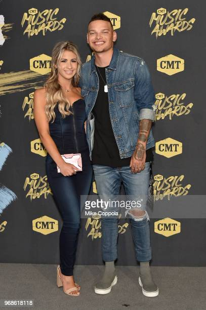 Katelyn Jae and Kane Brown attend the 2018 CMT Music Awards at Bridgestone Arena on June 6 2018 in Nashville Tennessee