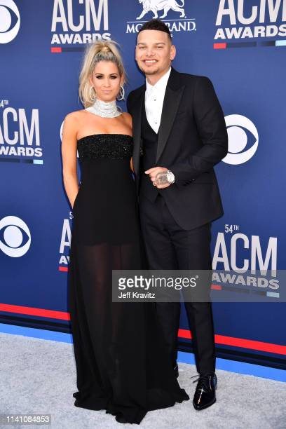 Katelyn Jae and Kane Brown attend the 54th Academy Of Country Music Awards at MGM Grand Hotel Casino on April 07 2019 in Las Vegas Nevada