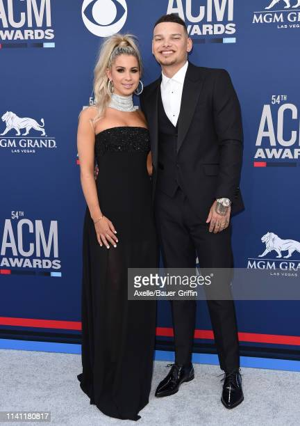 Katelyn Jae and Kane Brown attend the 54th Academy of Country Music Awards at MGM Grand Garden Arena on April 07 2019 in Las Vegas Nevada