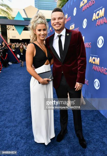 Katelyn Jae and Kane Brown attends the 53rd Academy of Country Music Awards at MGM Grand Garden Arena on April 15 2018 in Las Vegas Nevada