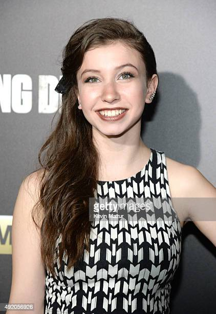 Katelyn Nacon attends AMC's The Walking Dead season 6 fan premiere event at Madison Square Garden on October 9 2015 in New York City