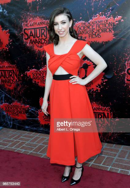 Katelyn Nacon attends the Academy Of Science Fiction Fantasy Horror Films' 44th Annual Saturn Awards at The Castaway on June 27 2018 in Burbank...