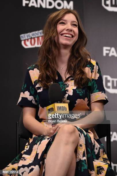 Katelyn Nacon of The Walking Dead speaks onstage during IMDb LIVE at NY ComicCon at Javits Center on October 7 2017 in New York City