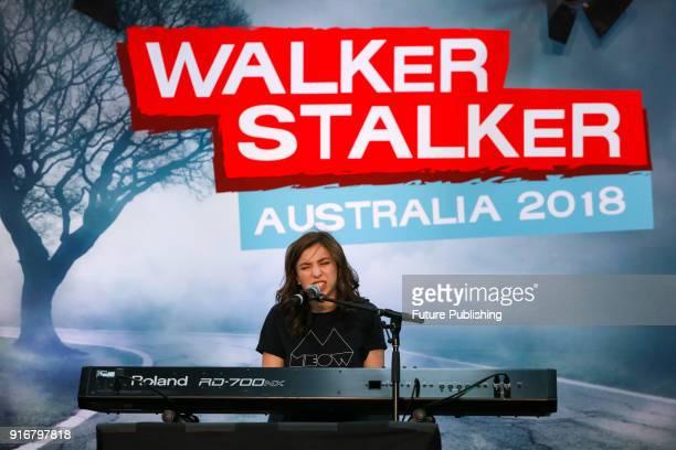 MELBOURNE AUSTRALIA FEBRUARY Katelyn Nacon performs at Walker Stalker Con Melbourne 2018PHOTOGRAPH BY Chris Putnam / Barcroft Images 44 207 033 1031...