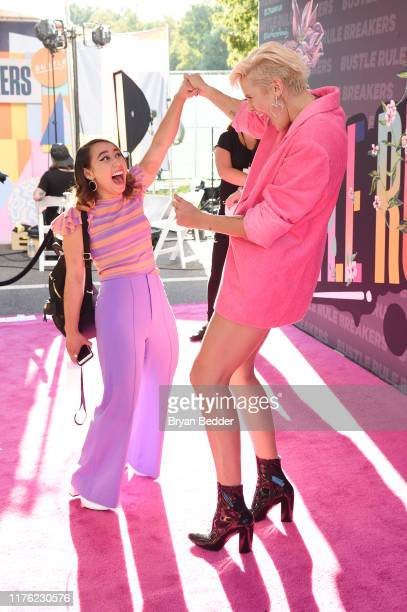 Katelyn Ohashi and Betty Who attend Bustle's 2019 Rule Breakers Festival at LeFrak Center at Lakeside on September 21, 2019 in Brooklyn, New York.