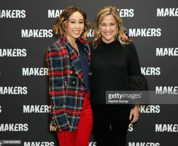 Katelyn Ohashi and Founder & Executive Producer, MAKERS Dyllan McGee attend The 2019 MAKERS Conference at Monarch Beach Resort on February 6, 2019 in...