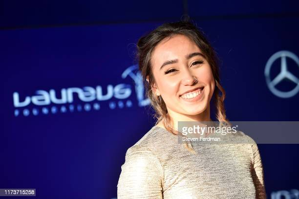Katelyn Ohashi attends the 2019 Laureus Fashion Show Gala during New York Fashion Week, bringing together sport and fashion to shine a light on Sport...