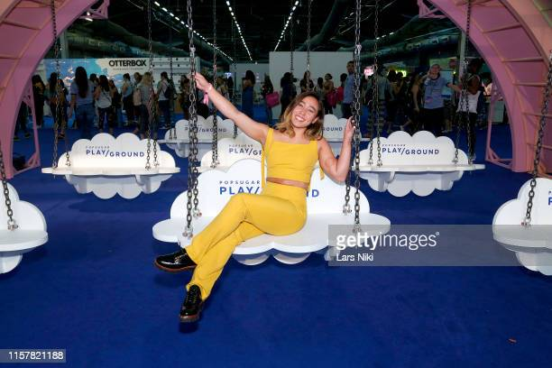 Katelyn Ohashi during POPSUGAR Play/Ground at Pier 94 on June 23, 2019 in New York City.