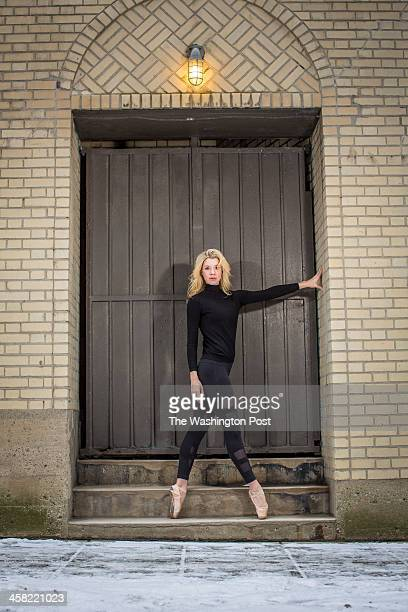 Katelyn Prominski originally from Washington DC and a ballet dancer in Flashdance The Musical poses for a portrait at the Palace Theater in Columbus...