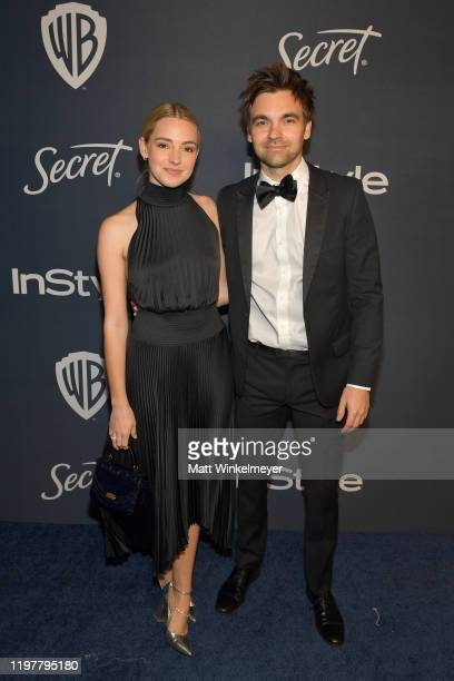 Katelyn Tarver and Drew Tarver attend The 2020 InStyle And Warner Bros 77th Annual Golden Globe Awards PostParty at The Beverly Hilton Hotel on...