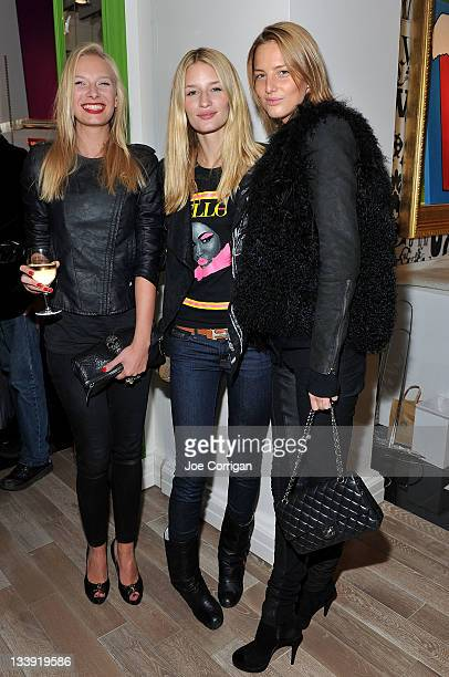 Katerina Benboba, Linda Vojtova and Michaela Kocianova attend Art Basel Preview presented by Yellow Fever Incubator to benefit Food Bank for New York...