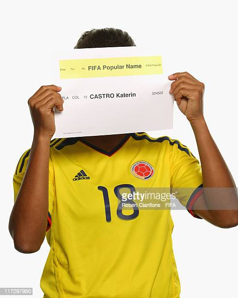 Katerina Castro of Colombia during the FIFA portrait session on June 25 2011 in Cologne Germany