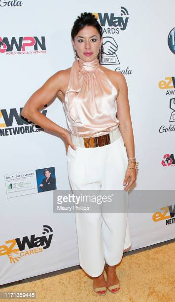 Katerina Cozias attends the eZWay Awards Golden Gala at Center Club Orange County on August 30 2019 in Costa Mesa California
