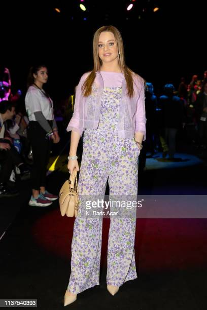 Katerina Eksioglu attends the Exquise show during MercedesBenz Fashion Week Istanbul March 2019 at Zorlu Center on March 22 2019 in Istanbul Turkey