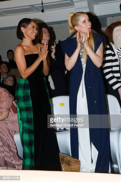 Katerina Graham and Paloma Faith attend the JeanPaul Gaultier Haute Couture Spring Summer 2018 show as part of Paris Fashion Week on January 24 2018...