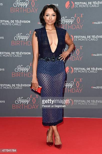 Katerina Graham attends the 55th Monte Carlo Beach anniversary as part of Monte Carlo TV Festival on June 16 2015 in MonteCarlo Monaco