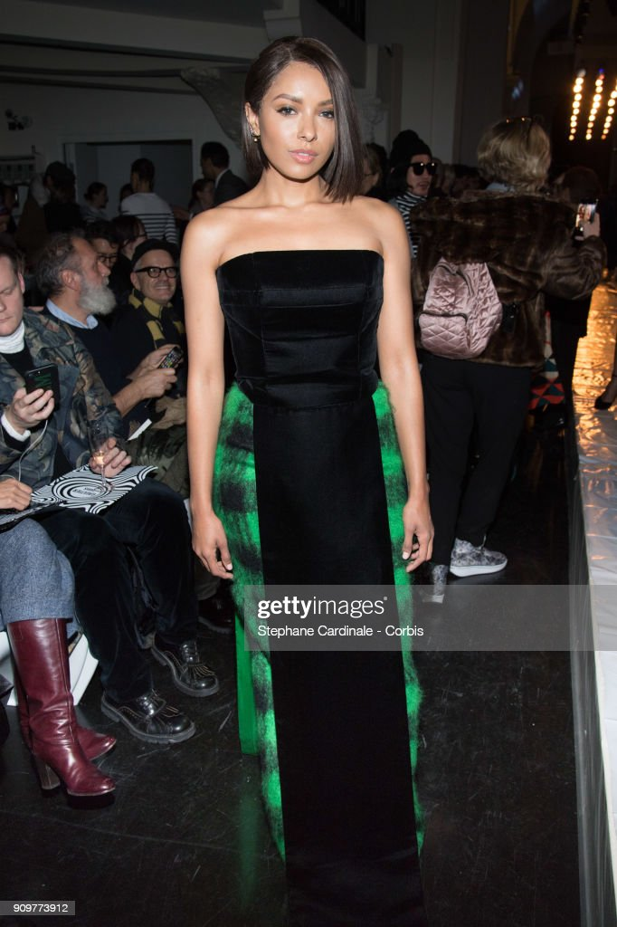 Katerina Graham attends the Jean Paul Gaultier Haute Couture Spring Summer 2018 show as part of Paris Fashion Week January 24, 2018 in Paris, France.