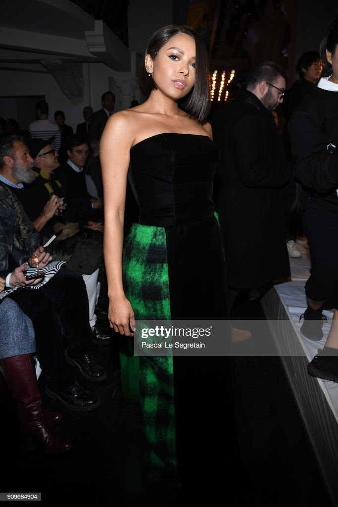 Katerina Graham attends the Jean-Paul Gaultier Haute Couture Spring Summer 2018 show as part of Paris Fashion Week on January 24, 2018 in Paris, France.