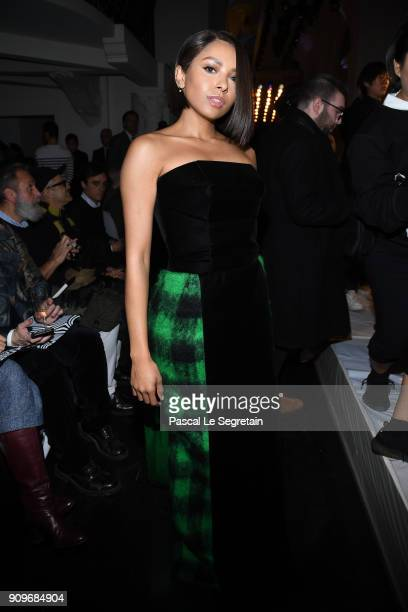 Katerina Graham attends the Jean-Paul Gaultier Haute Couture Spring Summer 2018 show as part of Paris Fashion Week on January 24, 2018 in Paris,...