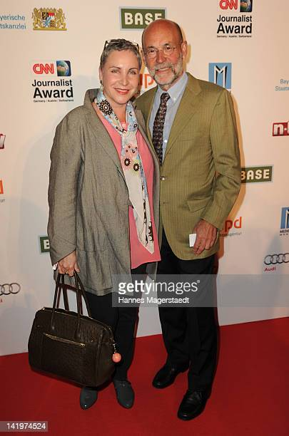 Katerina Jacob and her husband Jochen Neumann attend the CNN Journalist Award 2012 at the GOP Variete Theater on March 27, 2012 in Munich, Germany.