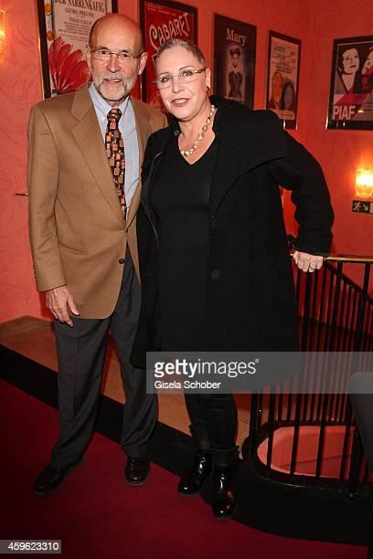 Katerina Jacob and her husband Jochen Neumann during the premiere 'Mein Freund Harvey' at Komoedie im Bayerischen Hof on November 26, 2014 in Munich,...