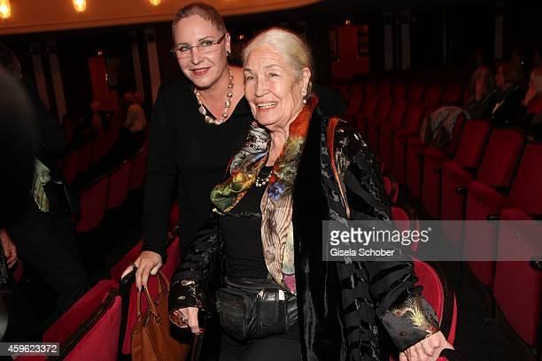 Katerina Jacob and her mother Ellen Schwiers during the premiere 'Mein Freund Harvey' at Komoedie im Bayerischen Hof on November 26 2014 in Munich...