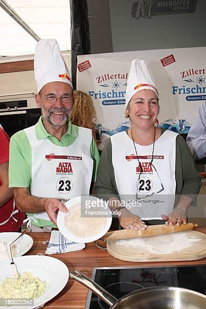 """Katerina Jacob Mit Freund Jochen Neumann Beim """"Grossen Grenzverkehr"""" In Mayrhofen Am 160607 ."""