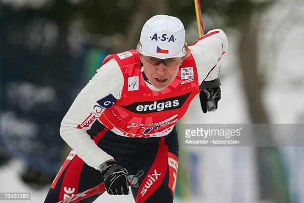 Katerina Neumannova of the Czech Republic on her way to winning the Women's 10 km Cross Country Free Individual Event during the FIS Nordic World Ski...