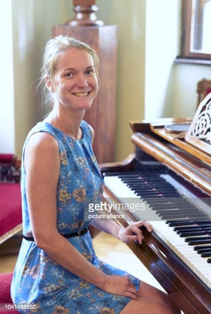 Katerina Nova director of the Antonin Dvorak Museum sitting at the original Boesendorfer piano of the world famous composer at the Villa 'Amerika' in...