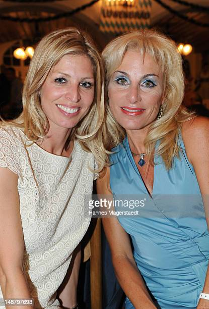 Katerina Schroeder and Birgit Muth attend the 'Bavaria' Germany Premiere party at the Loewnbraeukeller on July 19 2012 in Munich Germany