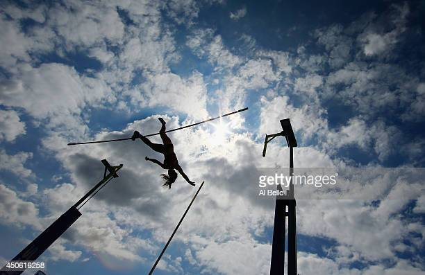 Katerina Stefandi of Greece competes in the pole vault during the Adidas Grand Prix at Icahn Stadium on Randalls Island on June 14 2014 in New York...