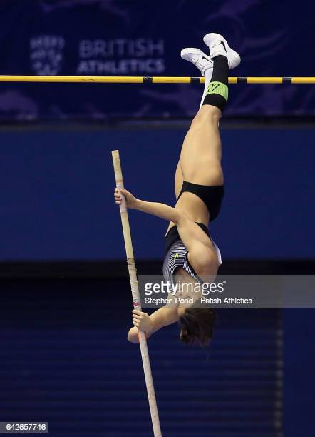 Katerina Stefanidi of Greece in the womens pole vault during the Muller Indoor Grand Prix 2017 at the Barclaycard Arena on February 18 2017 in...